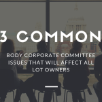 3 Common Body Corporate Committee Issues That Will Affect All Lot Owners