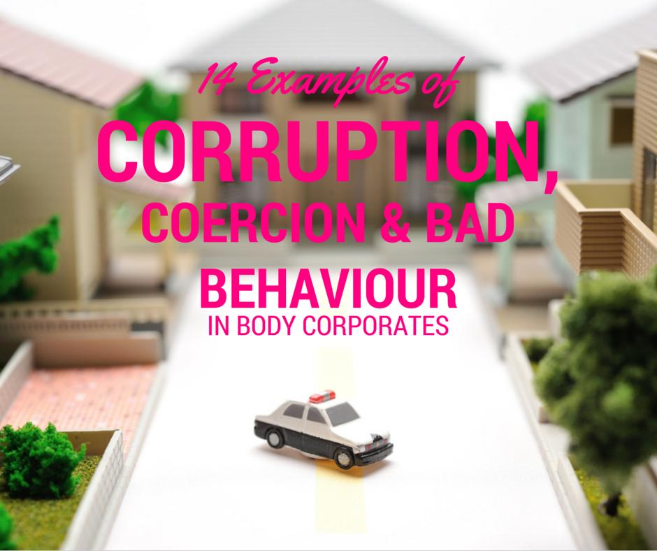 corruption in body corporates