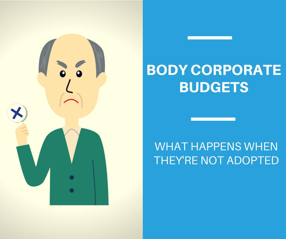 body corporate budget