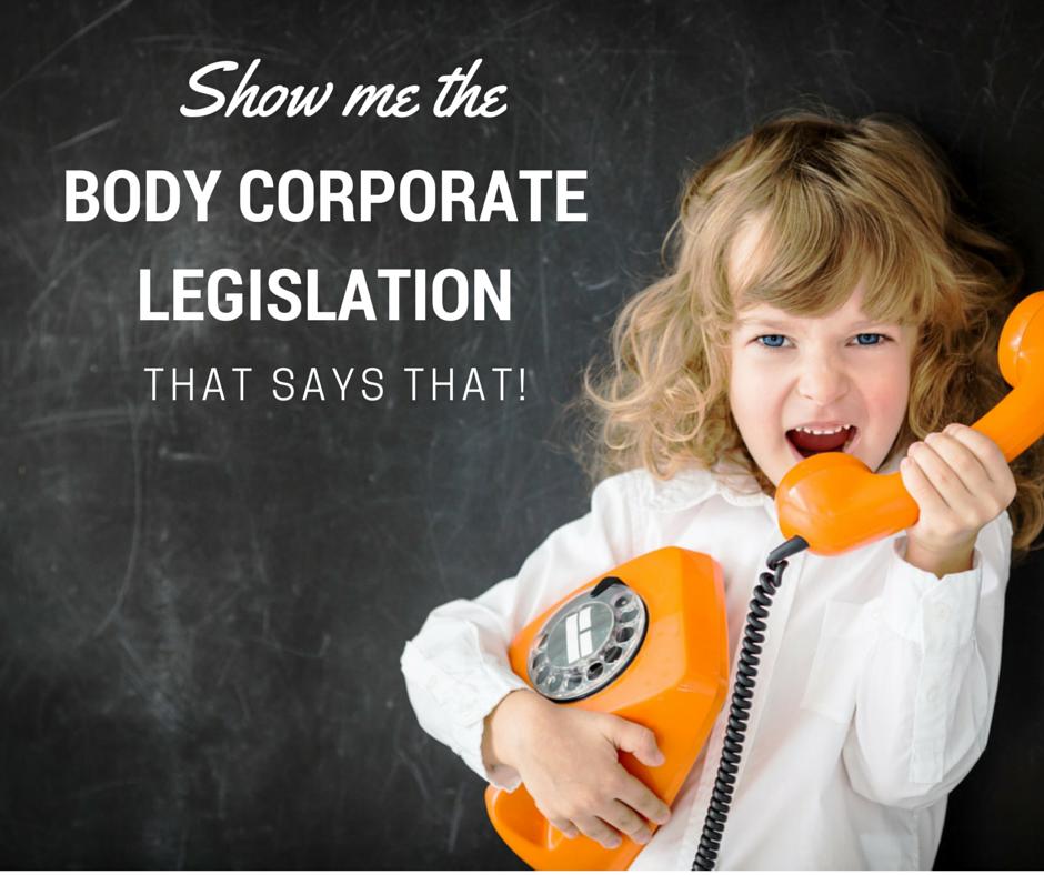 body corporate legislation