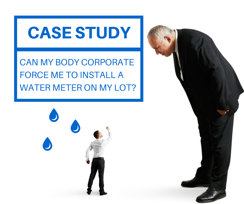 body corporate water meters