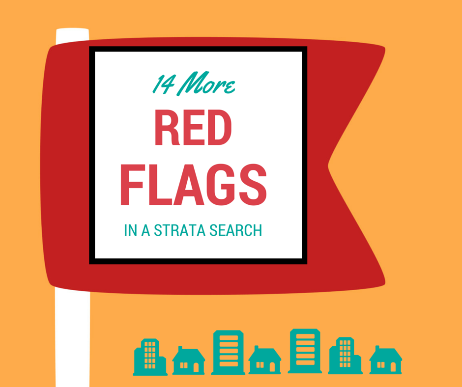 red flags in a strata search