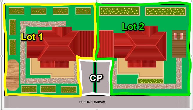 Duplex showing common property SFP