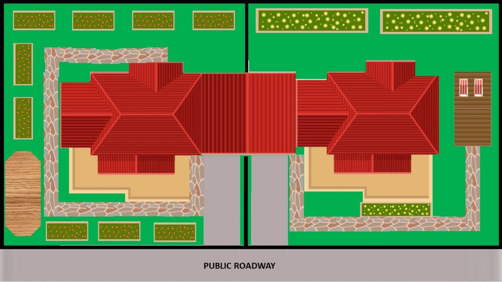 common property boundaries for a duplex