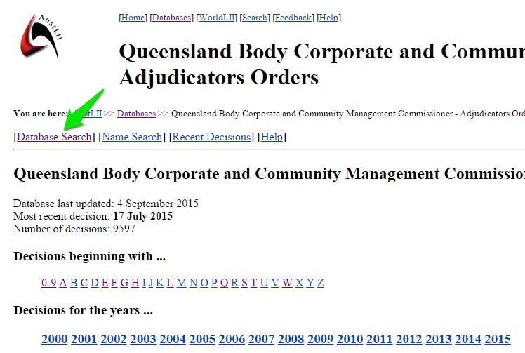Search Adjudicators Orders database search