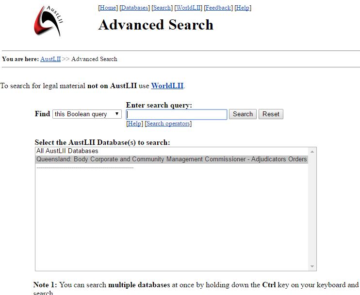 Search Adjudicators Orders advance search