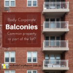 body corporate balconies