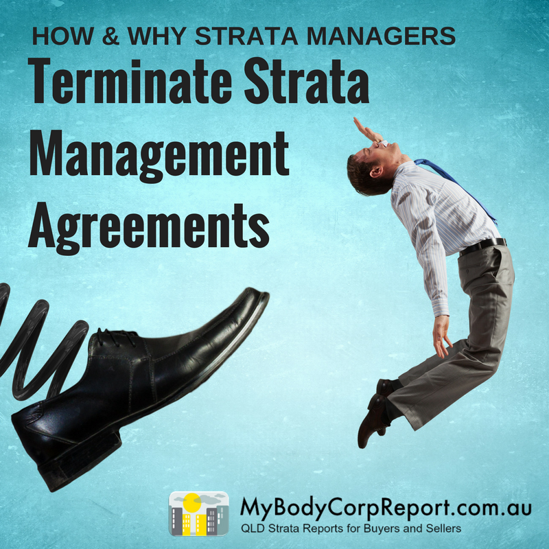 terminate strata management agreements